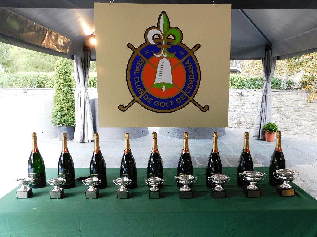 Trofeos torneo de golf en cerdanya